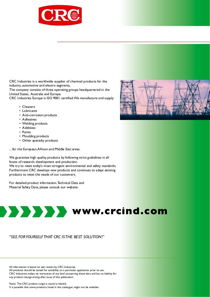 Crc industrial literature