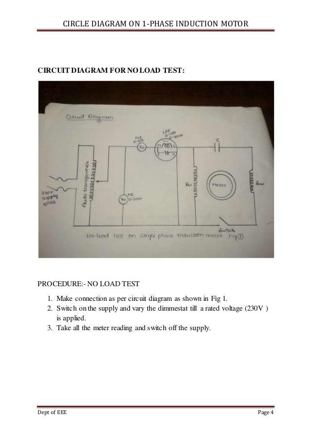 CIRCLE DIAGRAM ON 1-PHASE INDUCTION MOTOR