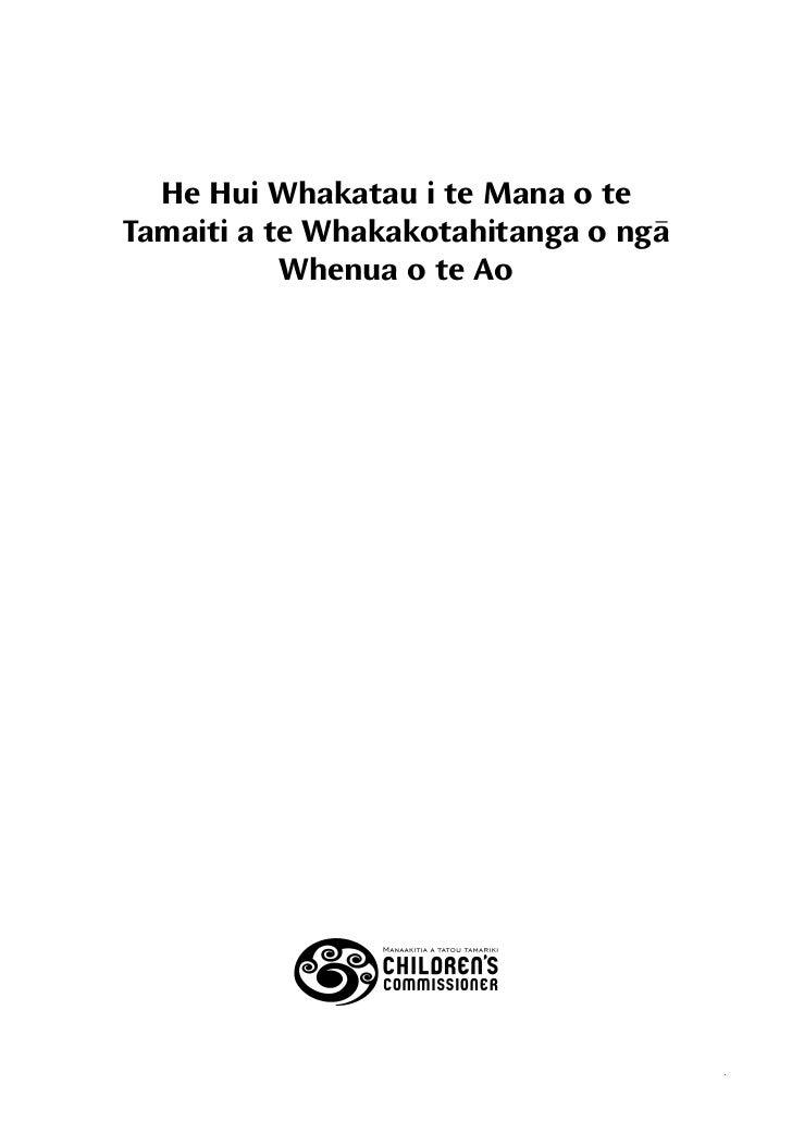 He Hui Whakatau i te Mana o teTamaiti a te Whakakotahitanga o nga           Whenua o te Ao                                ...