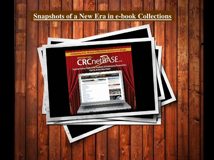 Snapshots of a New Era in e-book Collections