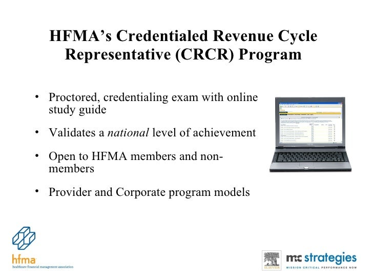 hfma revenue cycle credentialing program rh slideshare net Revenue Cycle of Intangible Assets Steps of the Revenue Cycle