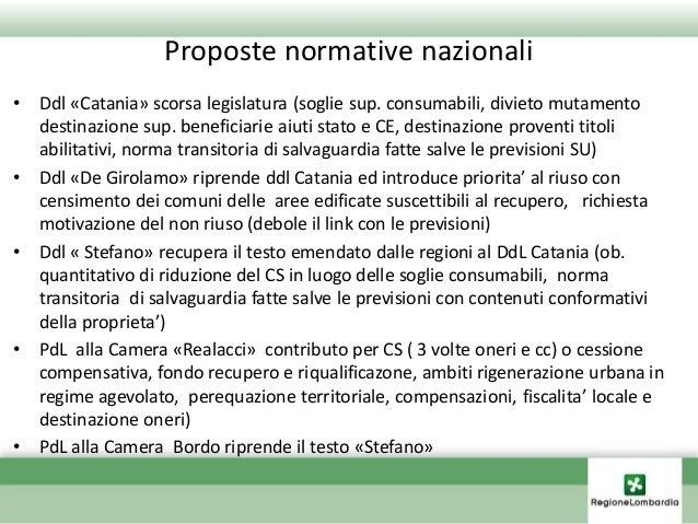 PdL regionali • PdL Prina scorsa legislatura (soglie, compensazione eco preventiva, rafforzamento PTR-PTCP ed integrazione...