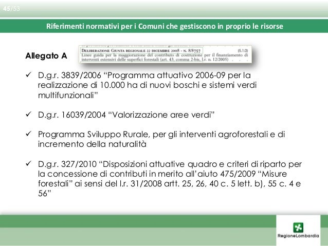 Tipologie interventi ammissibili: A - Sistemi Verdi A1 - a prevalenza di bosco A2 - a prevalenza di elementi lineari A3 - ...