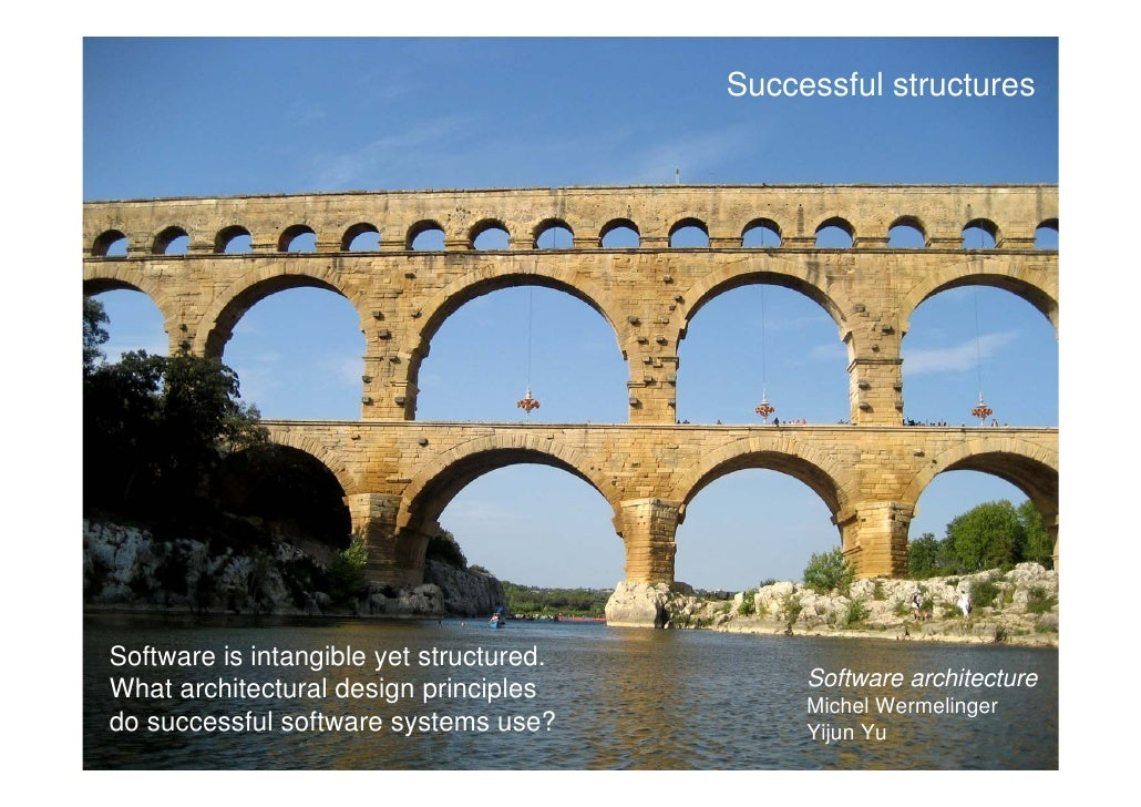 Successful structures     Software is intangible yet structured. What architectural design principles          Software ar...
