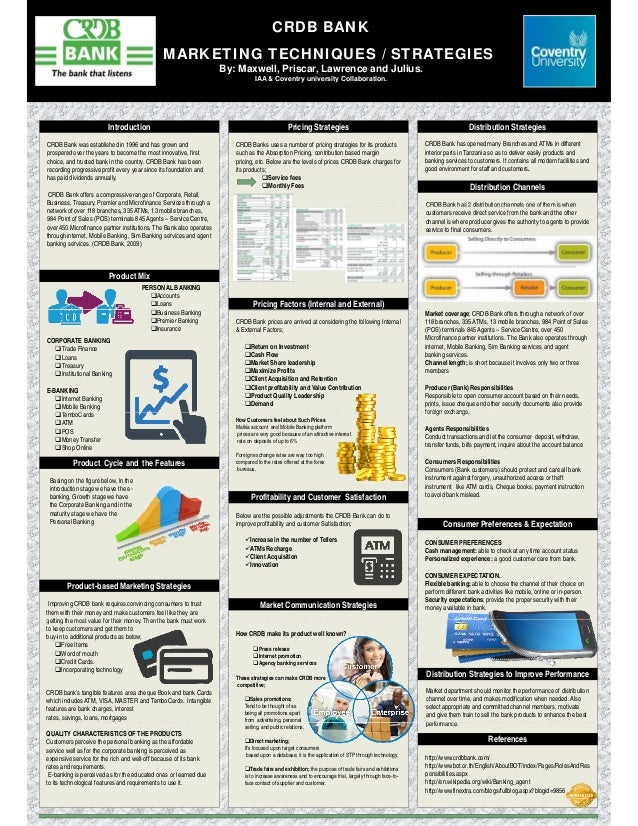 poster for marketing techniques    strategies for crdb bank