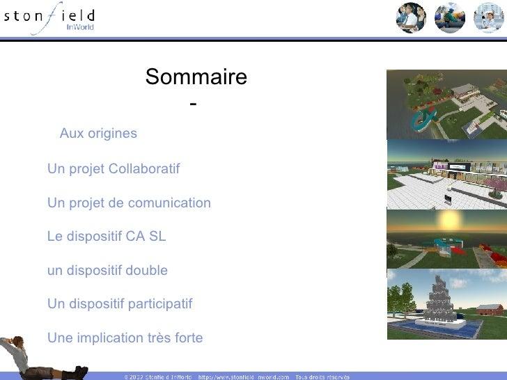 <ul><li>Sommaire </li></ul><ul><li>Aux origines </li></ul><ul><li>Un projet Collaboratif </li></ul><ul><li>Un projet de co...