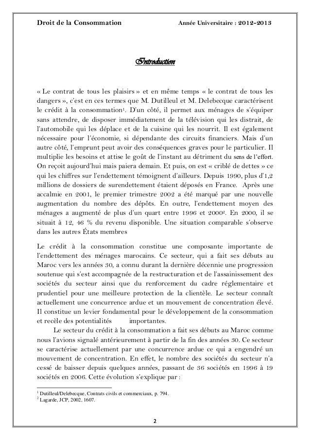 Droit de la Consommation Année Universitaire : 2012-201322Introduction« Le contrat de tous les plaisirs » et en même temps...