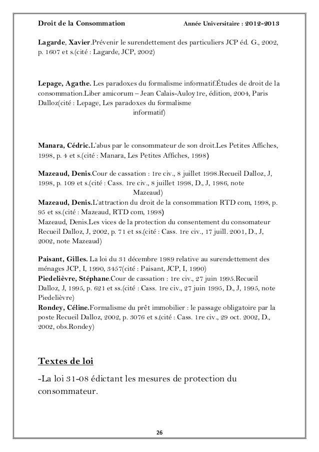 Droit de la Consommation Année Universitaire : 2012-20132626Lagarde, Xavier.Prévenir le surendettement des particuliers JC...