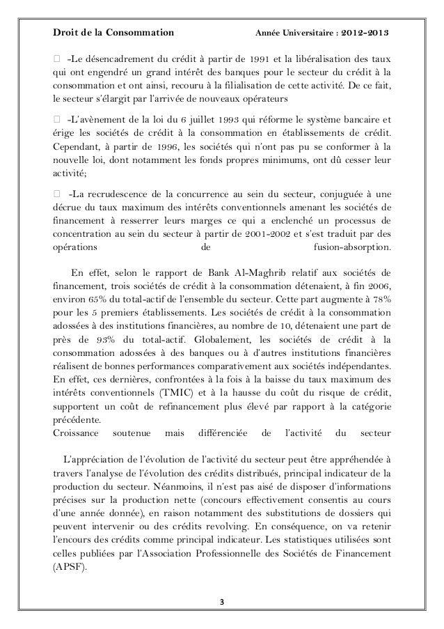 Droit de la Consommation Année Universitaire : 2012-201333 -Le désencadrement du crédit à partir de 1991 et la libéralisa...
