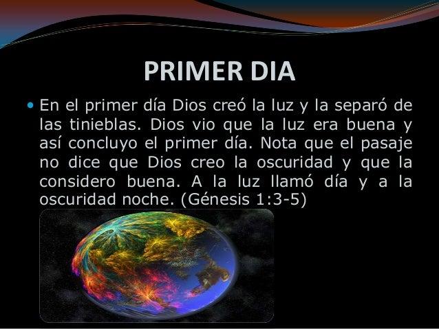 Creaci n de mundo for En 7 dias dios creo el mundo