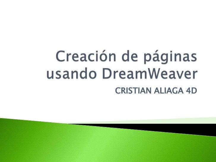 CRISTIAN ALIAGA 4D