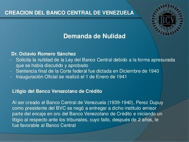 Exposici n sobre el bcv historia econ mica de venezuela for Oficina del banco de venezuela
