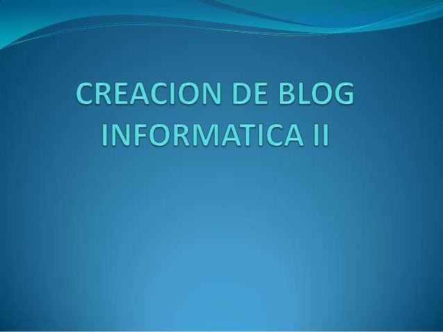 Creacion de blog