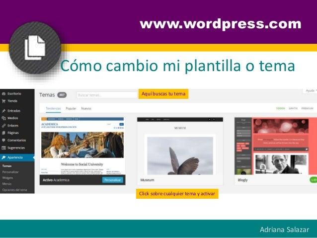Guía rápida para la creación de un Blog en Wordpress.com
