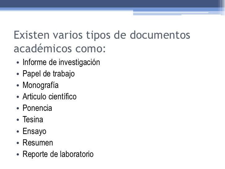 Creacion De Documentos De Calidad Academica