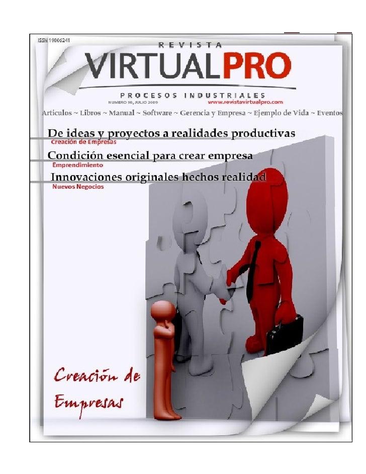 CREACIÓN DE EMPRESAS   Este documento se constituye como una guía que trata la temática de creación de empresas y presenta...