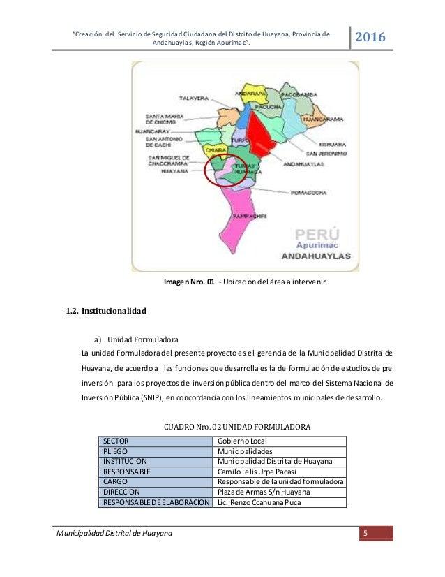 Creacion del servicio de seguridad ciudadana del distrito de huayan…