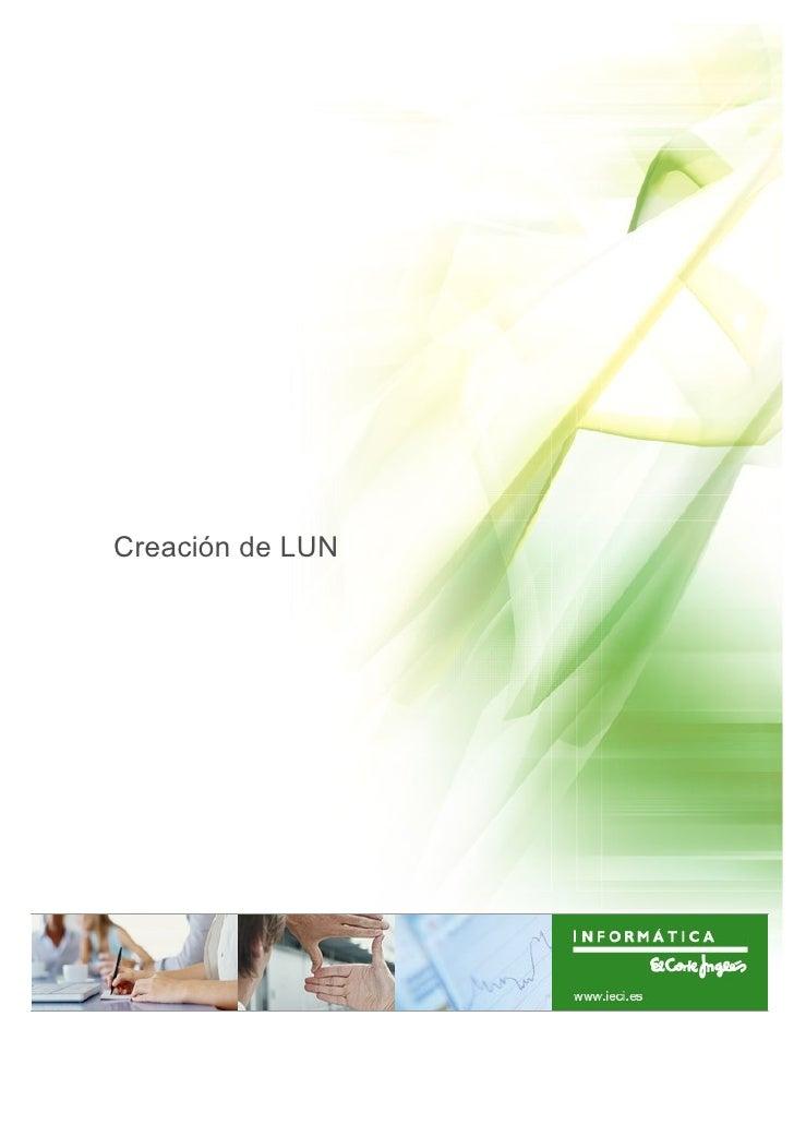Creación de LUN