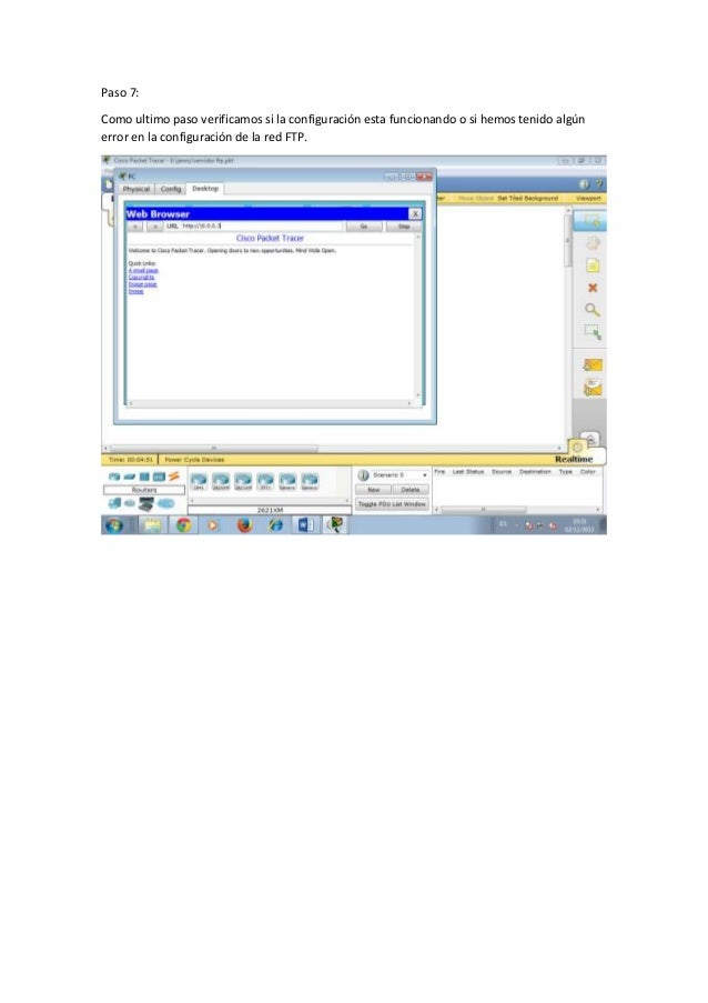 cisco packet tracer how to connect ftp