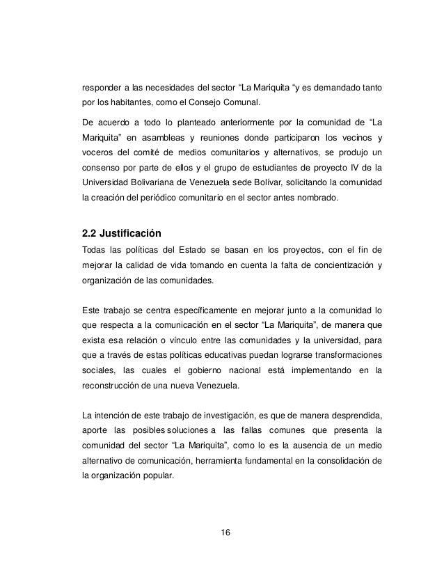 Creacion De Un Periodico Comunitario En El Sector La