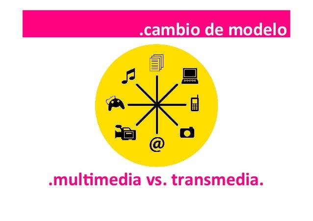 .cambio  de  modelo   .mulImedia  vs.  transmedia.