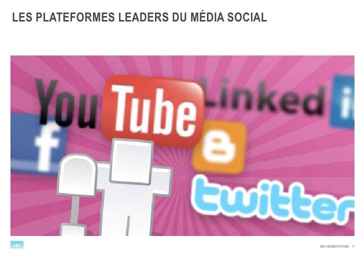 LES PLATEFORMES LEADERS DU MÉDIA SOCIAL                                               SEE A BIGGER PICTURE   1