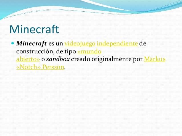 Creador de minecraft Slide 2