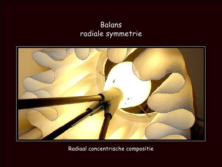 Balans radiale symmetrie Radiaal concentrische compositie