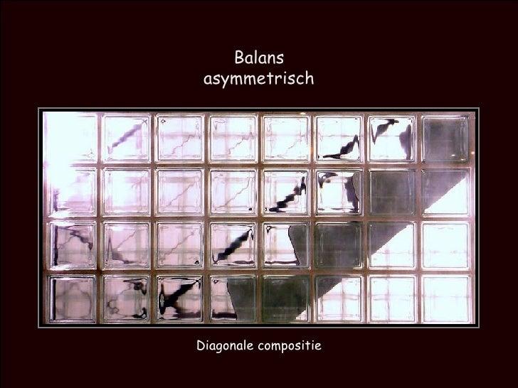 Balans asymmetrisch Diagonale compositie