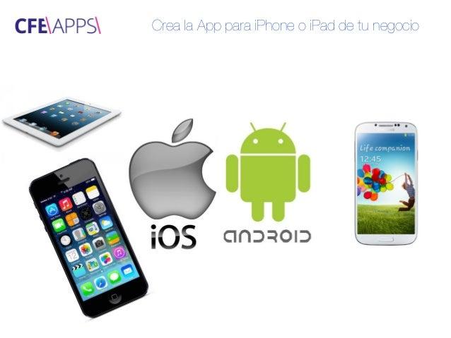 Crea la app para iphone o ipad de tu negocio for App para disenar muebles ipad