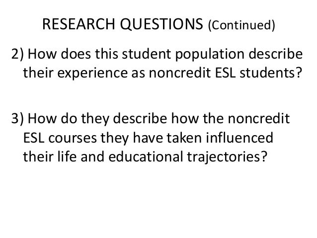 action research for esl students Action research & data  essential information for an action research paper   the seven steps develops skills and strengths in students that are crucial for.