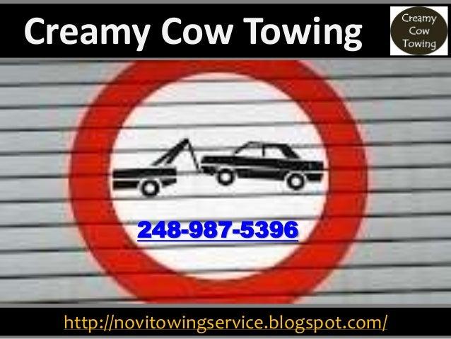 http://novitowingservice.blogspot.com/ 248-987-5396 Creamy Cow Towing