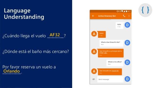 Language Understanding Concepts • Es, en esencia, lo que Cortana usa en el backend para el lenguaje y las interpretaciones...