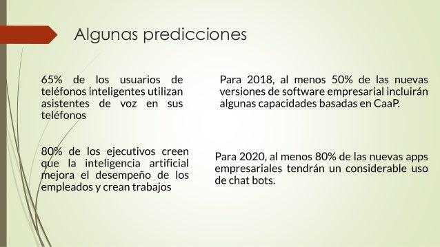 Algunas predicciones