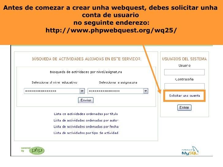 Crear unha webquest Slide 2