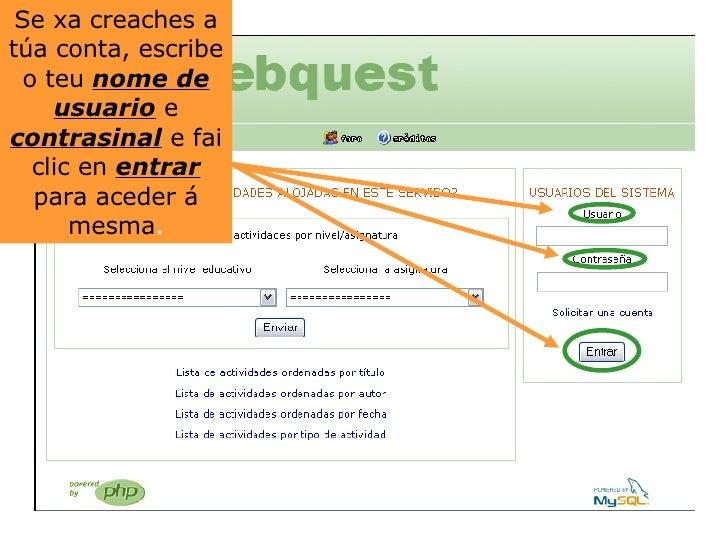 Crear unha webquest Slide 3