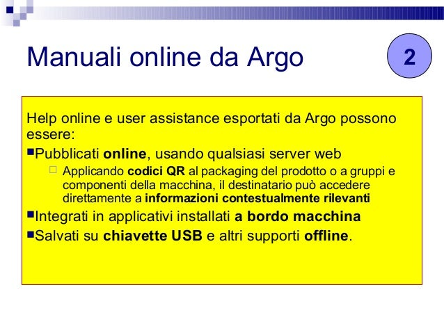 Creare help online e user assistance in HTML5 da Argo CMS Slide 3