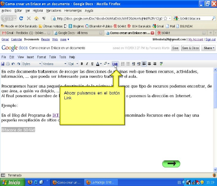 Insertar imagenes en Google Docs
