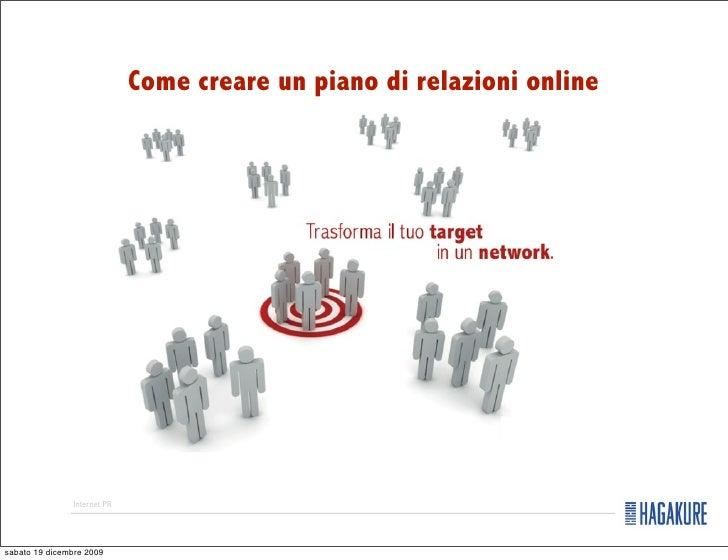 come creare un piano di relazioni online veronica ricasoli