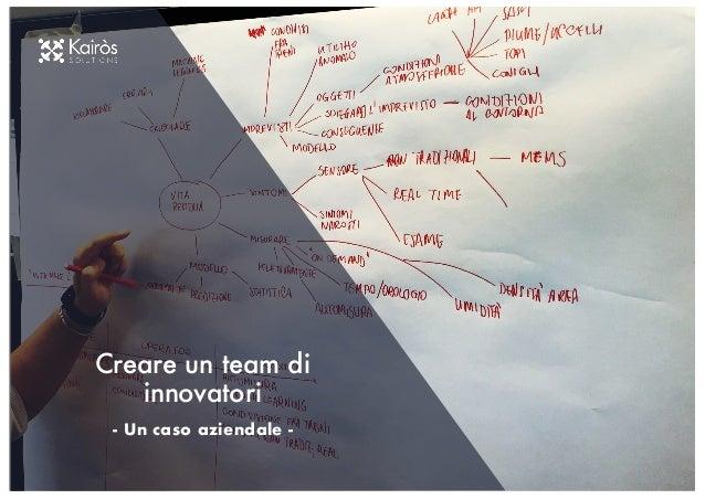 Creare un team di innovatori - Un caso aziendale -