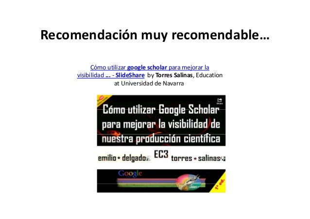 Comocrearunperfildeinvestigadoren GoogleScholarCitations JulioAlonsoArévalo UniversidaddeSalamanca España ala...