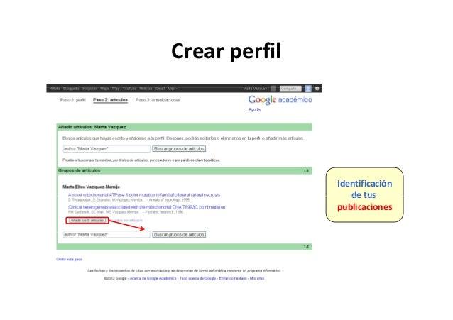 Crear perfilCrearperfil Identificación de tusdetus publicaciones