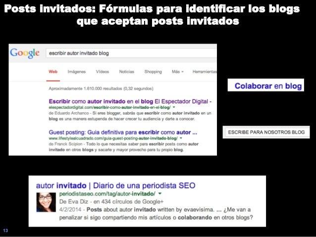 13 Posts invitados: Fórmulas para identificar los blogs que aceptan posts invitados