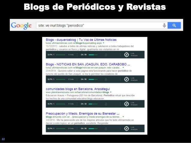 22 Blogs de Periódicos y Revistas