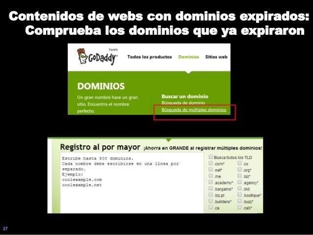 27 Contenidos de webs con dominios expirados: Comprueba los dominios que ya expiraron