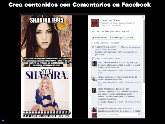 33 Crea contenidos con Comentarios en Facebook