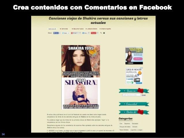34 Crea contenidos con Comentarios en Facebook