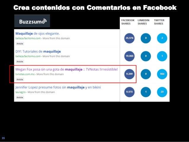 35 Crea contenidos con Comentarios en Facebook