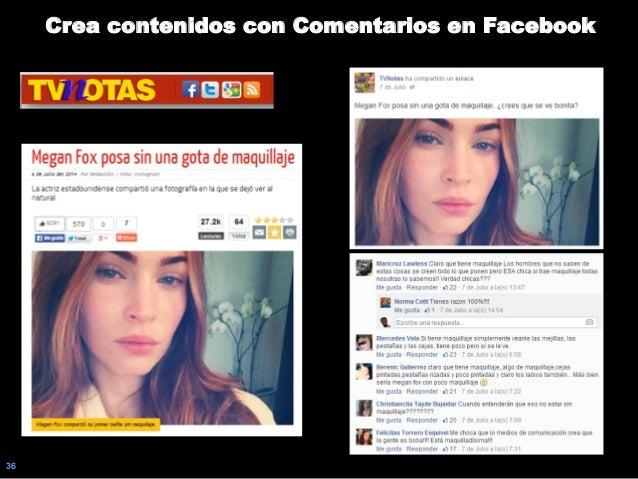 36 Crea contenidos con Comentarios en Facebook