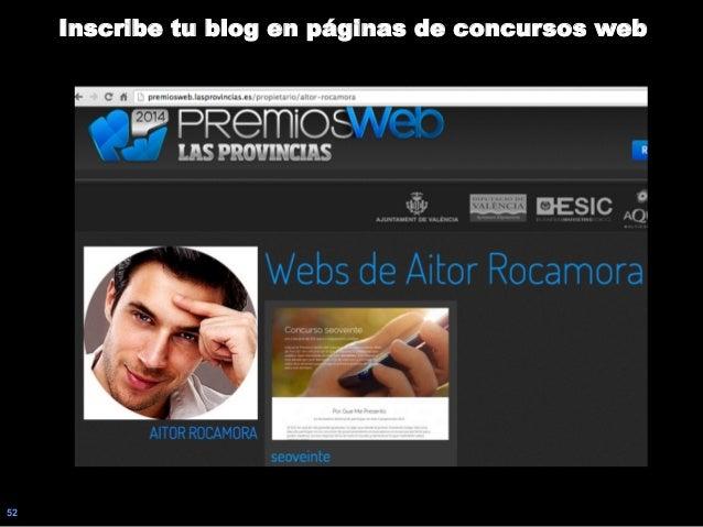 52 Inscribe tu blog en páginas de concursos web